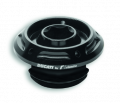 Tappo carico olio nero Ducati by Rizoma per Ducati Panigale V4, V2, Monster 937, Hypermotard 950, Streetfighter V4, Supersport 939 950, Multistrada 1200 Dvt 1260 950 ed Enduro, Multistrada V4