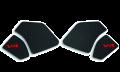 Grip pads adesivi neri antiscivolo per serbatoio per Ducati Panigale V4 e Streetfighter V4