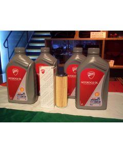 Kit 4 litri olio Ducati 15w 50 e filtro originale per Panigale 1299 1199 899 959 V4 V2 Streetfighter V4