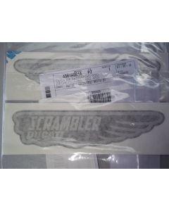 Adesivi laterali serbatoio Scrambler classic piatti ( modello Mach 2 )
