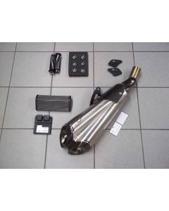Kit Sport by Ducati Lodi per Ducati Diavel 1200 fino al 2013 ( silenziatore omologato, tappi telaio, manopole, tappi serbatoi) - usato