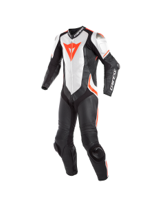 tuta DAINESE PROFESSIONALE PERFORATA LAGUNA SECA 4 1PC BLACK WHITE FLUO RED - promo