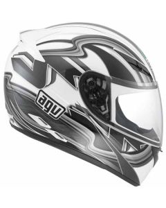 Casco integrale K3 Agv multi chicane white gun metal  - promo