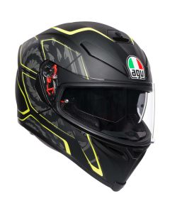 CASCO AGV K5 MULTI TORNADO BLACK YELLOW FLUO' - PROMO
