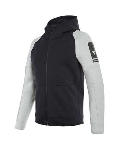 Felpa Dainese full zip hoodie black melange