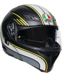 Casco Agv Modulare Compact St Multi Boston matt black grey yellow - promo