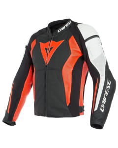 Giacca pelle Dainese Nexus Lady black fluo' red white
