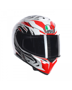 Casco integrale K3 Agv Sv Rookie white gun red multi - PROMO