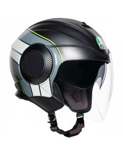 Casco jET AGV Orbyt Brera Jet MATT BLACK  GREY  YELLOW FLUO