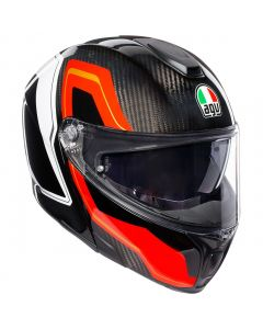 CASCO AGV INTEGRALE SPORTMODULAR MULTI SHARP CARBON RED WHITE