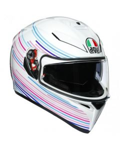 Casco Agv K3 Sv Multi sakura pearl white purple