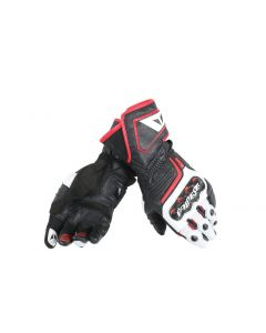 Guanti Dainese pelle Carbon D1 long black white red lava - promo
