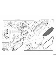 Kit serrature e chiavi bauletto e borse per Ducati Multistrada 1200 (010/014)
