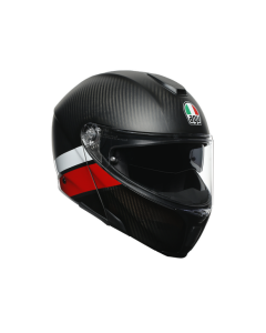 Casco integrale Agv Sportmodular multi layer carbon red white