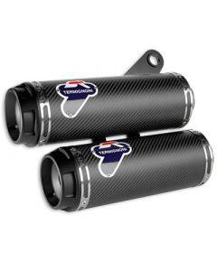 Kit silenziatori racing in carbonio Termignoni per Ducati Monster 1200 fino al 2016 con Up Map - CONTATTARCI PER LA DISPONIBILITA' -