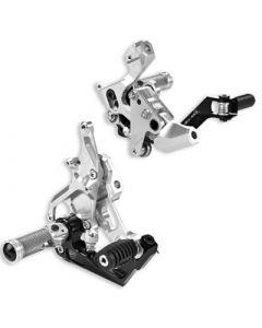 Kit pedane racing regolabili in alluminio dal pieno Ducati 1299 1199 899 959 Panigale ( cambio normale e rovesciato ) - CONTATTARCI PER LA DISPONIBILITA' -