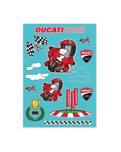 Adesivi da decoro cartoon Ducati