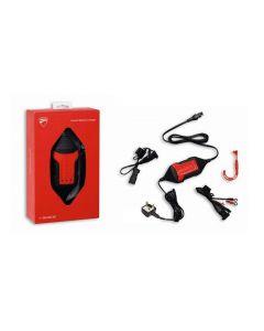 Mantenitore di carica salva batteria Ducati con cavetto Dda e cavetto morsetti  ( non per batterie al litio )