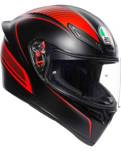 Casco Integrale Agv K1 warm up matt black red
