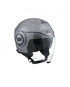 Casco Jet Agv fluid solid matt grey - promo