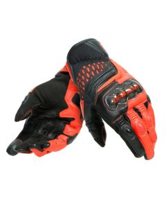 Guanti pelle Dainese Carbon 3 short Black fluo red