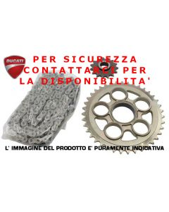 KIT TRASMISSIONE FINALE ( CATENA CORONA PIGNONE ) ORIGINALE DUCATI PER DUCATI PANIGALE 1199 SUPERLEGGERA 2014 - promo