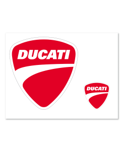 Adesivi Ducati logo  6,5x6 cm