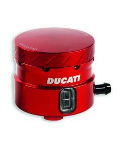 Serbatoio liquido freno in alluminio ROSSO per Ducati Supersport e Hypermotard 939 Sp 821 Sp