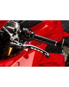 Leve lightech snodate e ribaltabili Alien con gommini neri + rossi per Ducati v4 v2, Streetfighter v4 Streetfighter 1098 848, 1299 1199 999 749, Monster 1200 1100, Diavel 1200