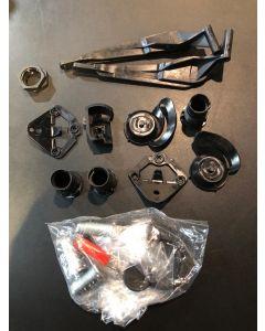 Kit serrature ( 3 nottolini e due chiavi e plastiche) per borse laterali in plastica per Ducati Multistrada 1200 Dvt, 1260, 950 ed Enduro