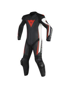 Tuta professionale dainese assen 1 pc perforata black white red - promo