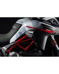 Cover BORSE LATERALI bianco lucido per Ducati Multistrada 950 Gp