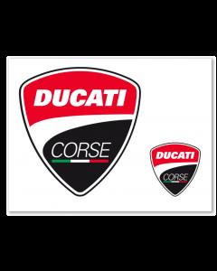Adesivi Ducati Corse logo  6,5x6 cm