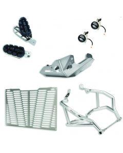 Enduro package per Ducati Multistrada 1200 Dvt e 1260 ( faretti, tubi paramotore, paracoppa, staffe, griglia radiatore e pedane ) - contattarci per la disponibilita'