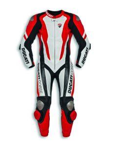 Tuta Ducati Corse K1 in pelle di canguro racing professionale - promo