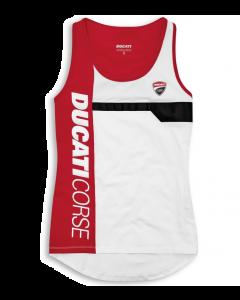 Canotta Ducati Corse Track 21 white lady