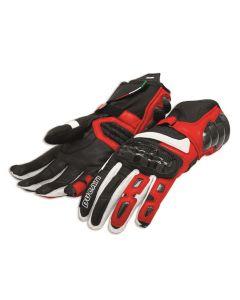 Guanti pelle Ducati Performance C2 rosso nero - promo