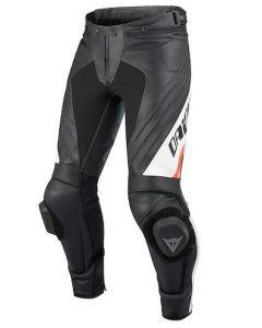 Pantaloni pelle Dainese Delta Pro Evo C2 nero bianco - promo