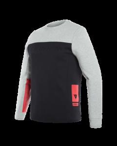 Felpa Dainese Contrast sweatshirt black melange - promo