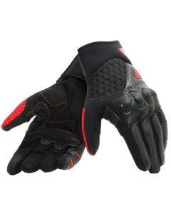 Dainese guanti unisex X-Moto pelle e tessuto black fluo' red