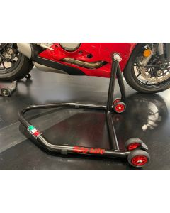 Cavalletto posteriore professionale per forcellone MONOBRACCIO professionale Bike lift perno PICCOLO