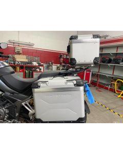 Borse laterali in alluminio e bauletto in alluminio per Ducati Multistrada 1200 E 1260 Enduro, 950 e 1260 - usato