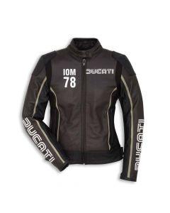 Giacca pelle Ducati Iom C1 nero marrone lady - promo