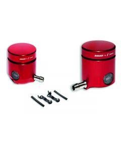Serbatoi ROSSI liquido frizione e freno Ducati by Rizoma ( acquistare gli adattatori separatamente ) - da ordinare