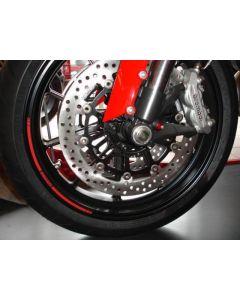 Adesivi profilo cerchi Ducati ( UN KIT COMPRENDE 4 STRISCIE, UNA STRISCIA PER LATO CERCHIO )
